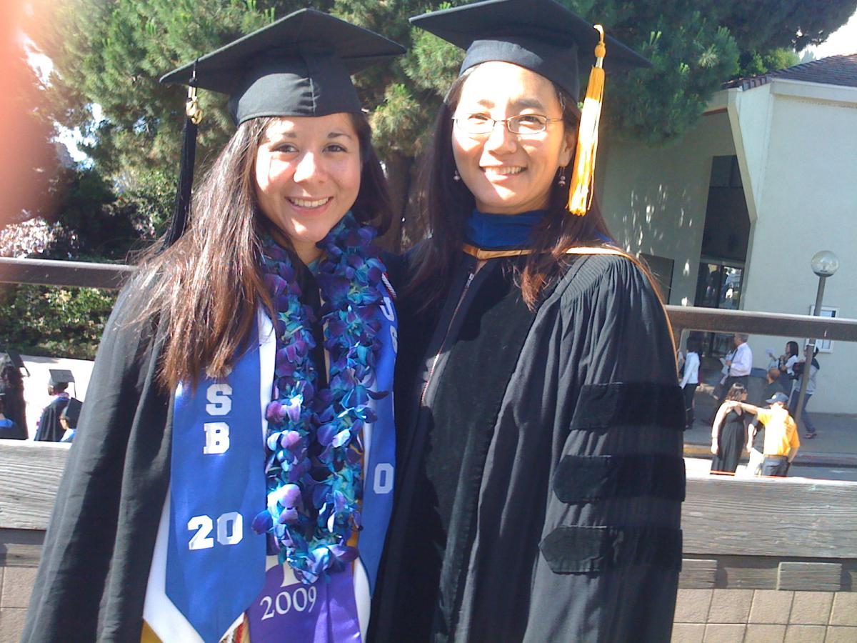 Jennifer Zapata with Professor Grace Chang